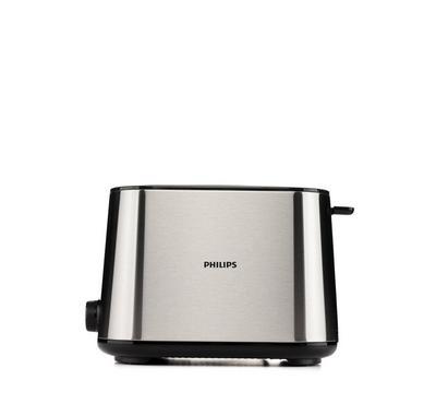 Philips Toaster, 950W,2 Slots, Metal/Black