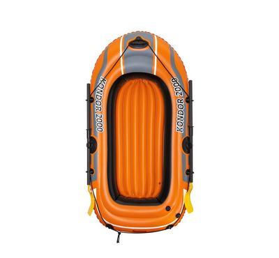 Bestway KONDOOR 2000 196x114cm Inflatable Raft Boat Set 6+ Age 2 Persons Orange