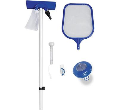 Bestway FLOWCLEAR Swimming Pool Accessories Cleaning Set Blue.