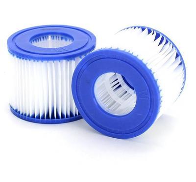 Bestway LAY-Z-SPA XTRAS Pool Spa Replacement Water Filter Cartridge VI 2pcs Blue/White