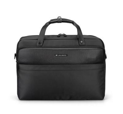 لافينتو، حقيبة كتف للكمبيوتر المحمول مقاس 15.6 بوصة، أسود