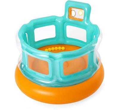 Bestway UP IN & OVER 6X HOPS N HOPS 152x152x117cm Inflatable Kids, Orange/Light Blue