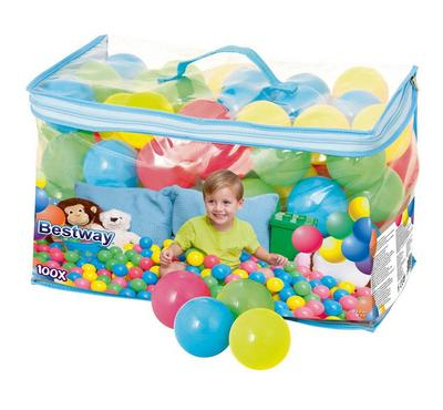 Bestway UP IN & OVER SPLASH&PLAY 100X 6.5cm Kids Bouncing Playball 100pcs 1+ Age Multi Color.