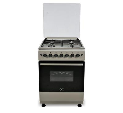 DE 60x60 Gas Cooker, 4 Burners, Normal Pan Support, Steel