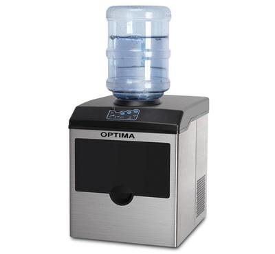 Optima 2in1 2.2L Ice Cube Maker With Water Dispenser,15KG/Day Black/Stainless.