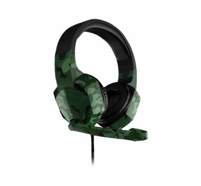 Heatz FIGHTER Wired Gaming PC Headset With External Mic, Black/Army Green
