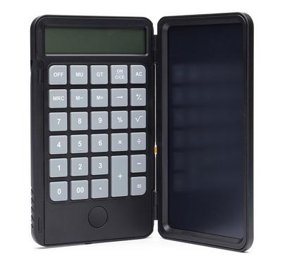 هيتز آلة حاسبة مع دفتر ملاحظات، أسود