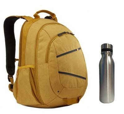 كايس لوجيك حقيبة ظهر 15.6 بوصة أصفر + مج حراري