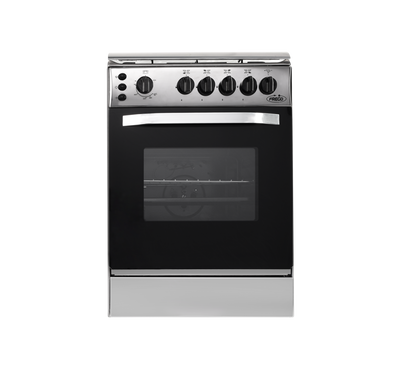 Frego Gas Cooker, 55x55, 4 Gas Burners, Full Safety, Stainless Steel
