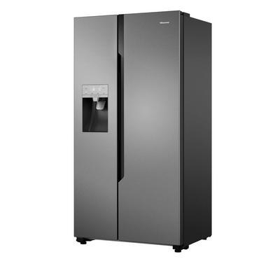 Hisense, 696.0L SBS Fridge With Water & Ice Dispenser, Stainless Steel