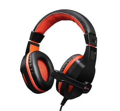 Meetion HP010 Wired Gaming PC Headset With External Mic Orange/Black
