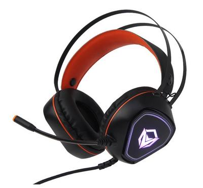 Meetion HP020 Wired Gaming PC Headset With External Mic, Orange/Black