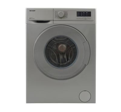 Sharp Front Load Washing Machine, 8 KG, Silver