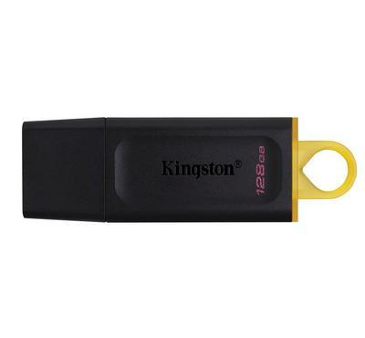 كينجستون ذاكرة فلاش 128 جيجابايت ، أسود