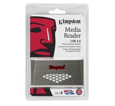 Kingston MEDIA READER  White/Silver