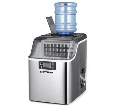 Optima, Ice Cube Maker 20kg/Day, Stainless Steel.