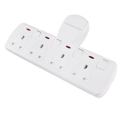 E-Links T-Socket , 4 Way , White