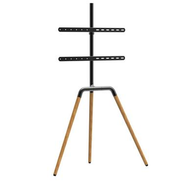 WB TV Floor Stand Mount Portable ,45-65Inch, Black/Brown.